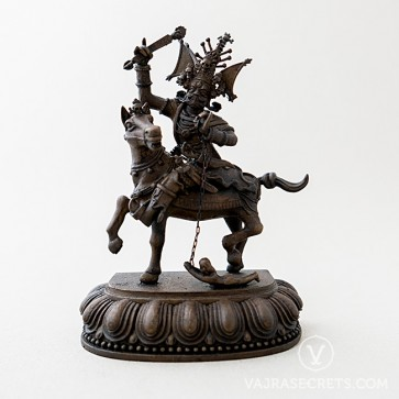 Setrap Brass Statue with Oxidised Finish, 5 inches