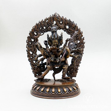 Heruka Chakrasamvara Copper Statue, 9.4 inches