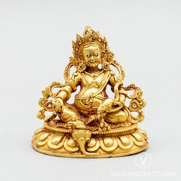 Dzambala Gold Statue, 3 inches
