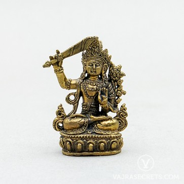 Manjushri Gold Statue, 1.8 inches