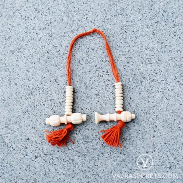 Vajra and Bell Bone Mala Counters (Ivory White)