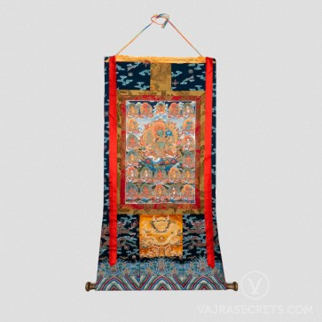 21 Tara Thangka with Silk Brocade