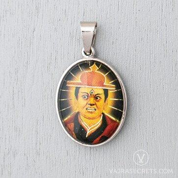 Dorje Shugden Glass Dome Pendant