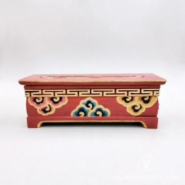 Tibetan Wooden Incense Burner with Cloud Motif (Large)