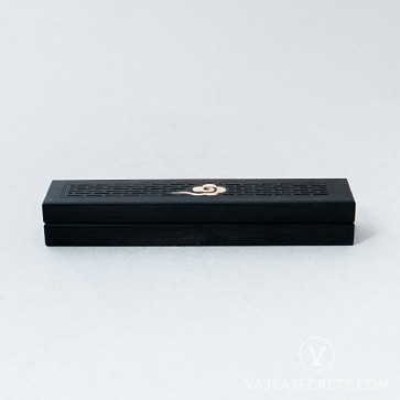Wooden Incense Burner with Cloud Motif, 5.3 inches
