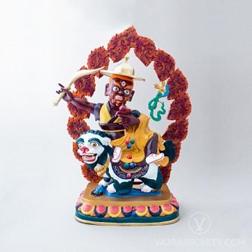 Dorje Shugden Colourful Brass Statue, 21 inches