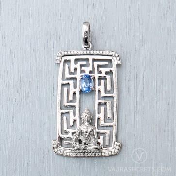 Limited Edition Medicine Buddha Blue Tourmaline Pendant