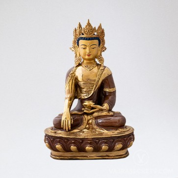 Shakyamuni Copper and Gold Statue, 13 inches