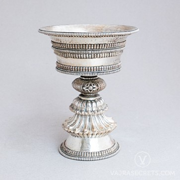 Silver-plated Butterlamp, 5 inches