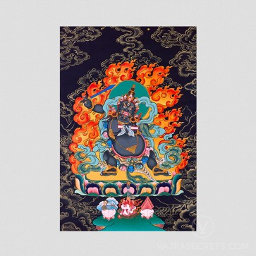 Black Manjushri Nathang (Black Thangka)
