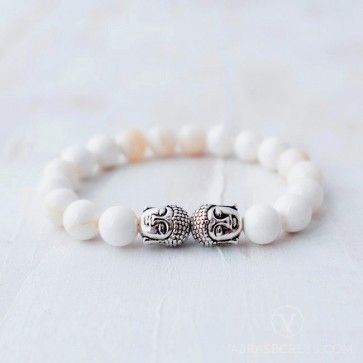Blessed Conch Shell Buddha Bracelet