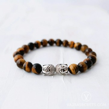 Blessed Tiger Eye Buddha Bracelet