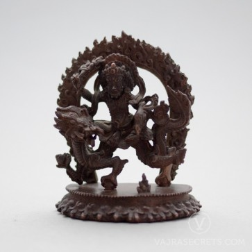 White Dzambala Copper Statue, 3 inches