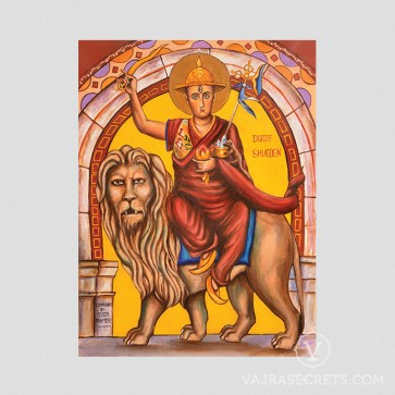 Dorje Shugden Byzantine Stained Glass Art
