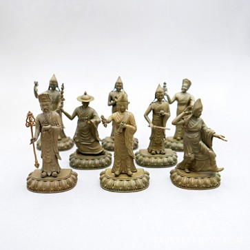 Eight Guiding Monks Collection, 4 inches (Gold)