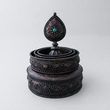 Copper Mandala Set with Oxidised Finish, 6.1 inches