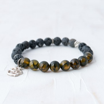 OM Grounding Mala Bracelet (Semi-Blessed)