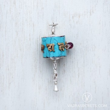 Prayer Wheel Sterling Silver Charm