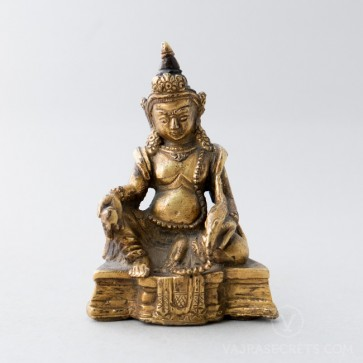 Dzambala Gold Statue, 3.5 inches