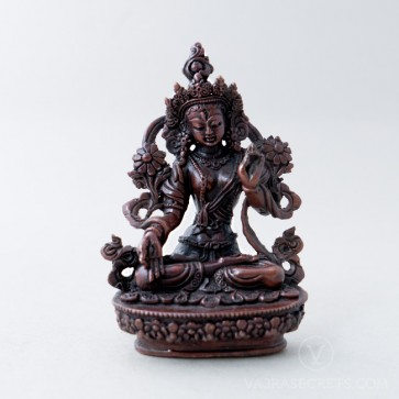 White Tara Copper Statue, 4 inches