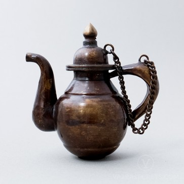Tibetan Brass Teapot with Antique Finish, 4 inches