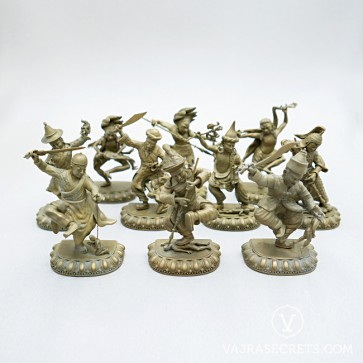 Ten Wrathful Attendants Collection, 4 inches (Gold)