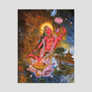 Vajrayogini (Flying) Thangka