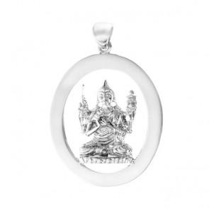 Lama Tsongkhapa Emptiness Oval Pendant