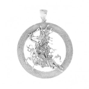 Setrap Emptiness Round Pendant with Diamond Sand Finish