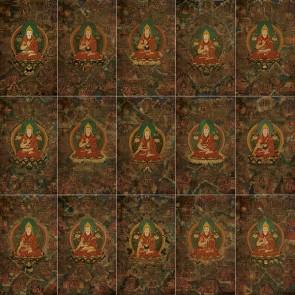 """Lama Tsongkhapa Life Story Thangkas (set of 15) 24"""" x 36"""""""