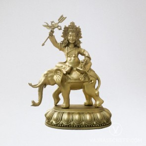 Shize Brass Statue with Gold Finish, 6 inches