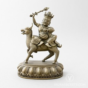 Namkar Barzin Brass Statue with Gold Finish, 5 inches
