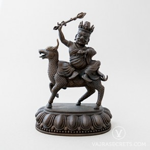 Namkar Barzin Brass Statue with Oxidised Finish, 5 inches
