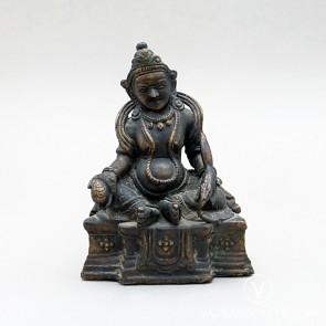 Dzambala Antique Copper Statue, 5.3 inches