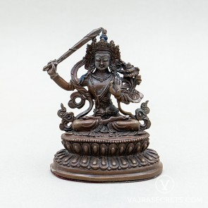 Manjushri Copper Statue, 3.5 inches