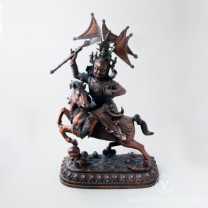 Setrap Brass Statue with Oxidised Finish, 18 inches