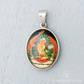 Manjushri Glass Dome Pendant