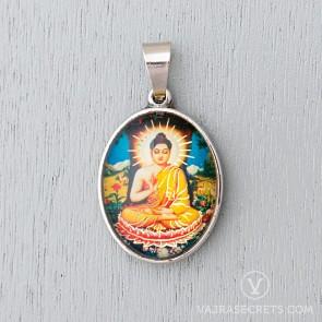 Buddha Shakyamuni Glass Dome Pendant