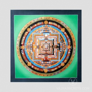 Green Kalachakra Mandala Thangka, Medium