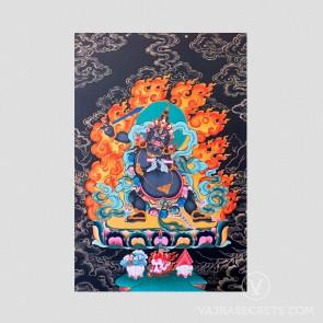 Black Manjushri Nathang (Black Thangka)