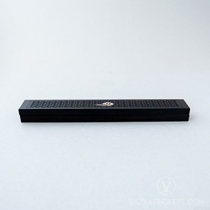 Wooden Incense Burner with Cloud Motif, 9.4 inches