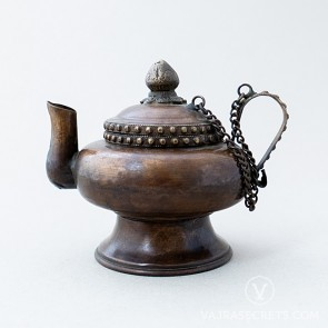 Tibetan Brass Teapot with Antique Finish, 5.5 inches