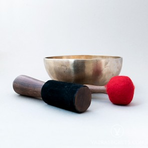 Tibetan Singing Bowl with Matte Finish, 8.1 inches