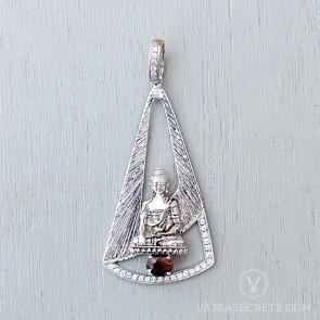 Limited Edition Shakyamuni Pendant with Semi-precious Stones