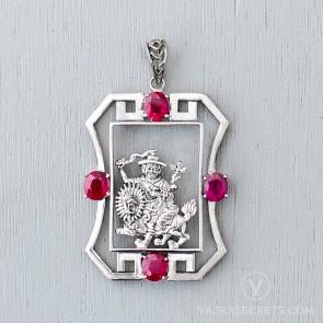 Limited Edition Dorje Shugden Pendant with Semi Precious Stones