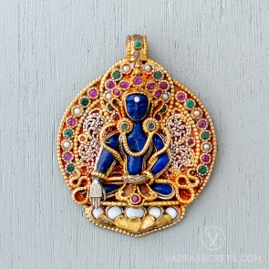 Akshobhya Filigree & Gemstone Pendant