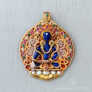 Akshobhya Filigree & Gemstone Pendant