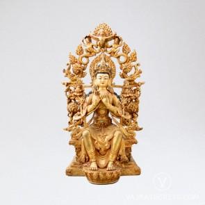Maitreya Copper Statue, 13 inches