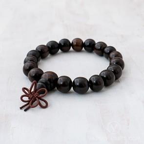 Blessed Dark Wood Mala Bracelet