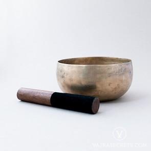 Antique Bronze Singing Bowl, 6.3 inches